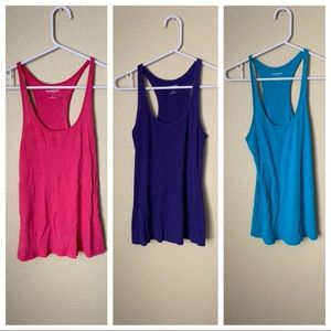 🔥30%OFF🔥BUNDLE express tanks blue,purple,pink S